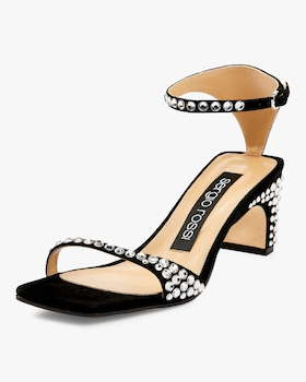 Suede and Strass Sandal