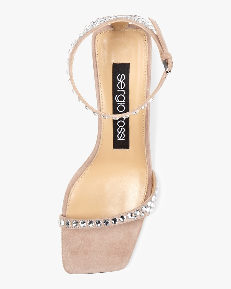 Suede and Strass Sandal Sergio Rossi
