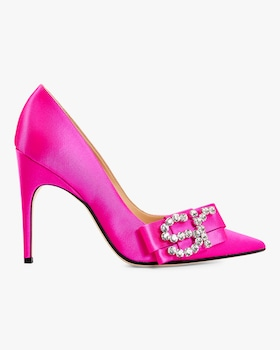 Embellished Satin Pump