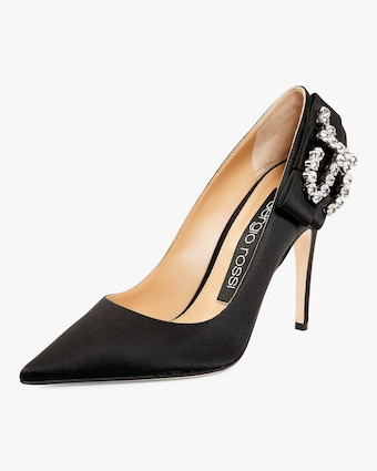 Sergio Rossi Embellished Satin Pump 2