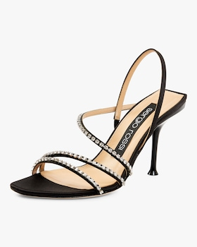 Satin and Strass Sandal
