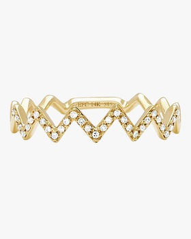 Diamond Zig Zag Stack Ring