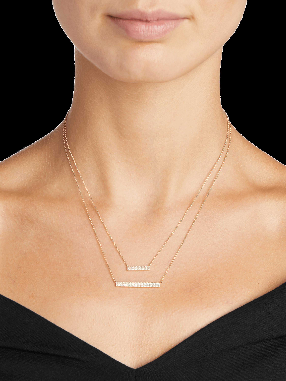 Diamond Jumbo Bar Necklace