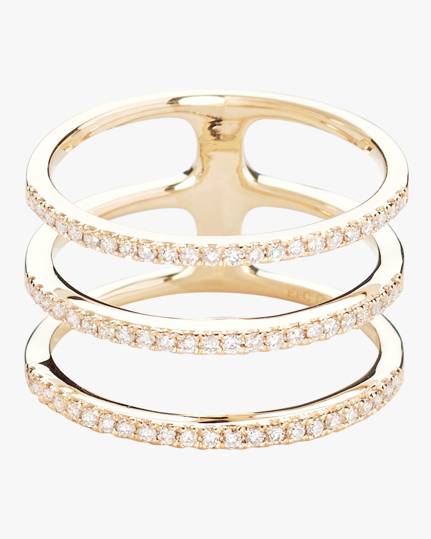 Diamond Triple Spiral Ring