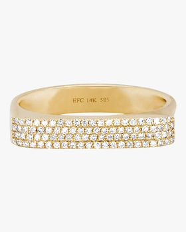 Diamond Jumbo Bar Ring