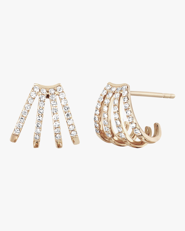 Diamond Multi Huggie Earrings