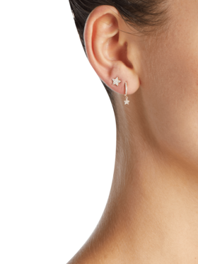 Single Diamond Star Stud Earring