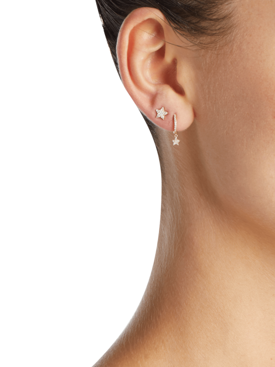 EF Collection Single Diamond Star Stud Earring 1