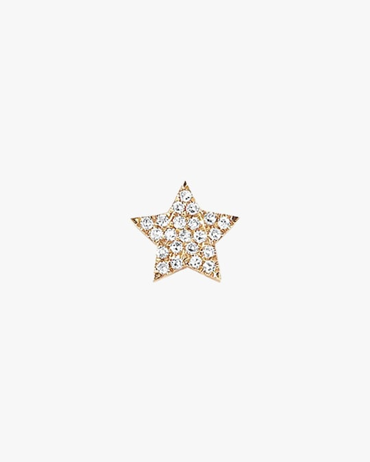 EF Collection Single Diamond Star Stud Earring 0