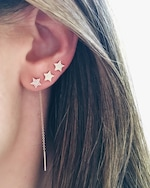 EF Collection Single Diamond Star Stud Earring 2