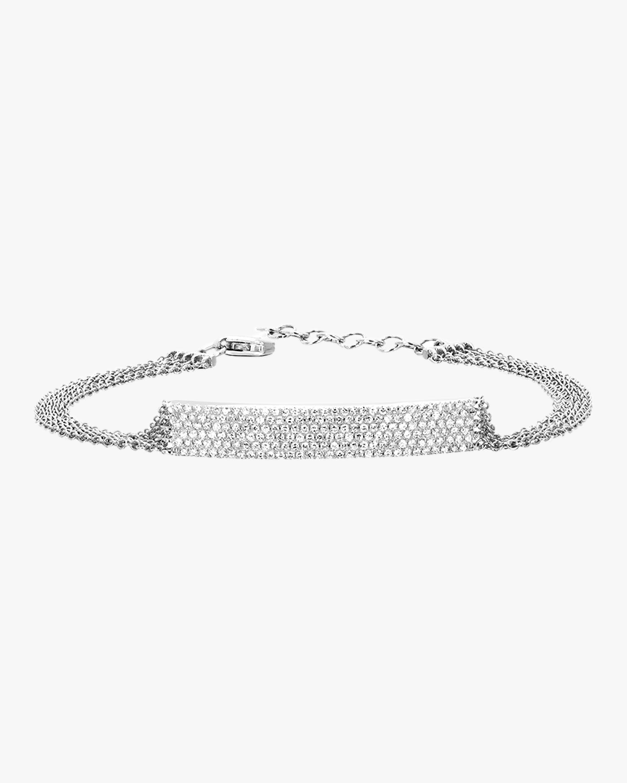 Diamond Bar Multi Chain Bracelet