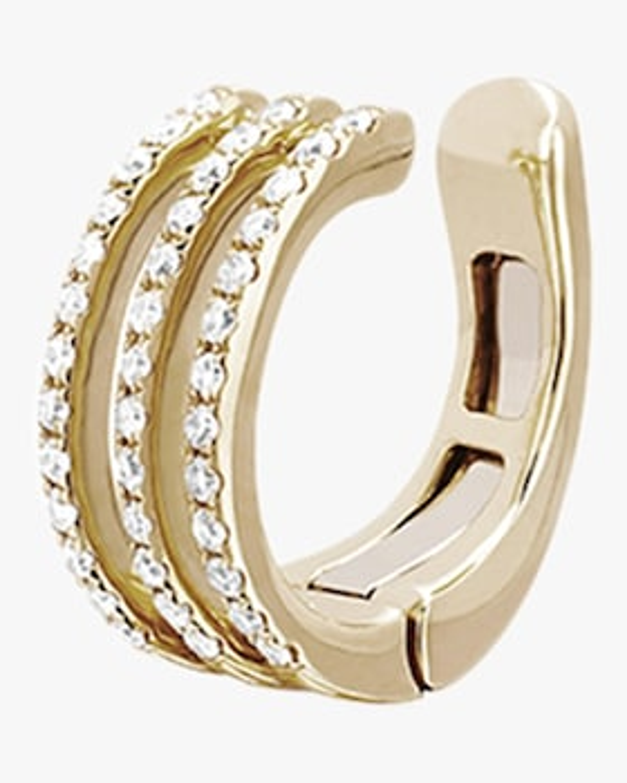 Diamond Triple Spiral Ear Cuff