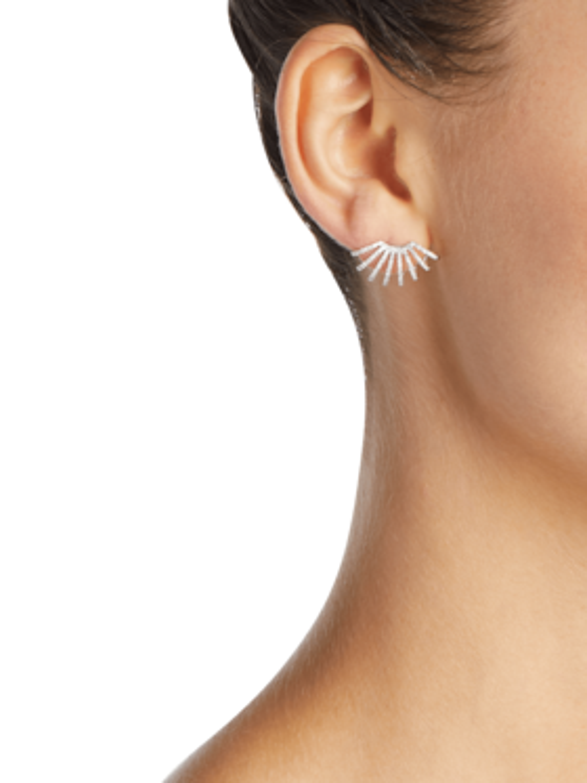 Diamond Double Multi Huggie Earrings