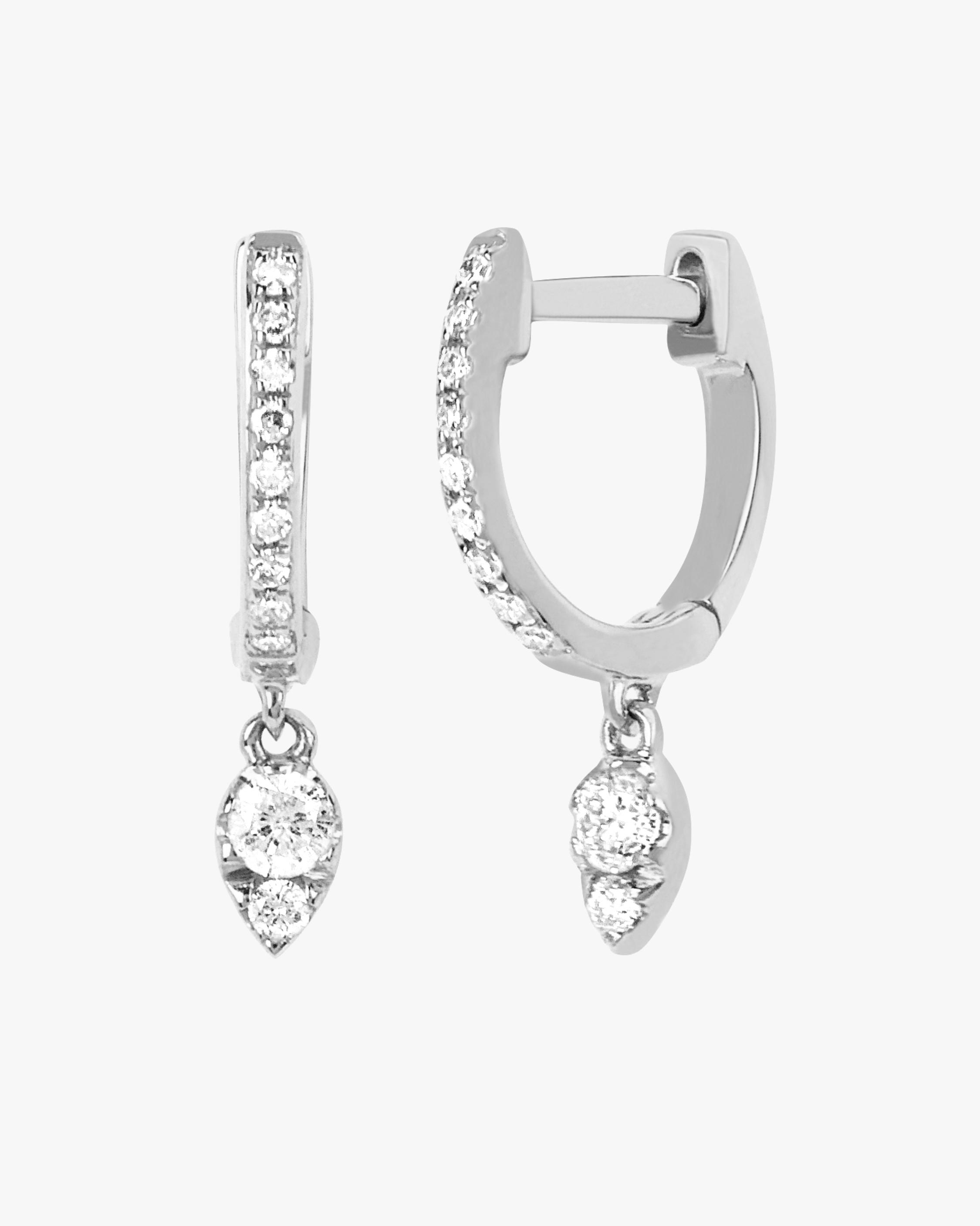Diamond Teardrop Mini Huggies