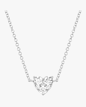 Diamond Heart Choker Necklace