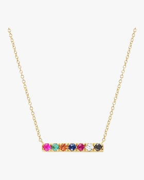 Rainbow Mini Bar Necklace