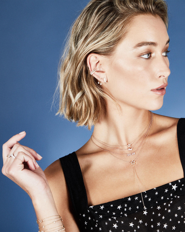 Diamond Shooting Star Stud Earrings