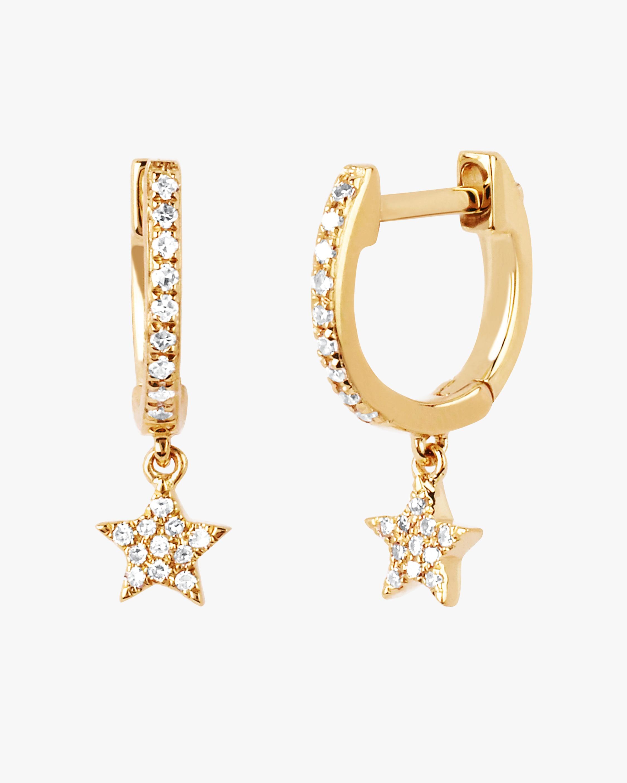 Gold Diamond Star Drop Huggies