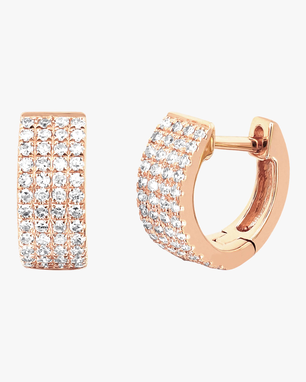 Diamond Jumbo Huggie Earrings