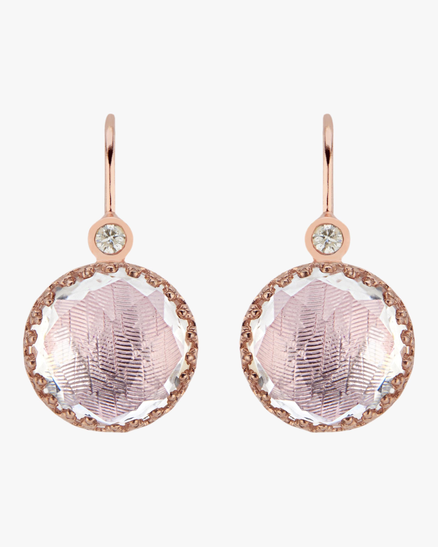 Small Olivia Button Diamond Earrings