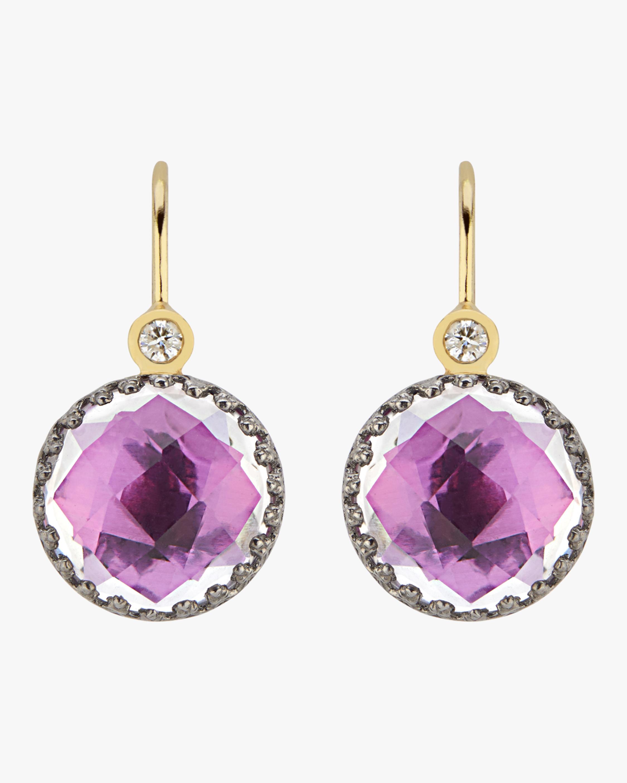 Larkspur & Hawk Small Olivia Button Diamond Earrings 0