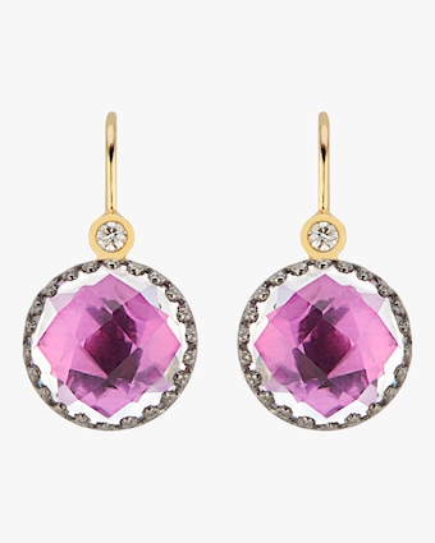Larkspur & Hawk Small Olivia Button Diamond Earrings 2
