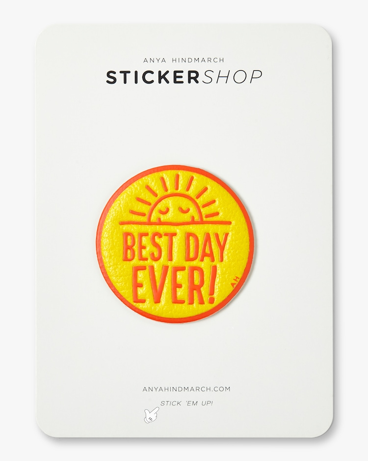Best Day Ever Sticker Anya Hindmarch