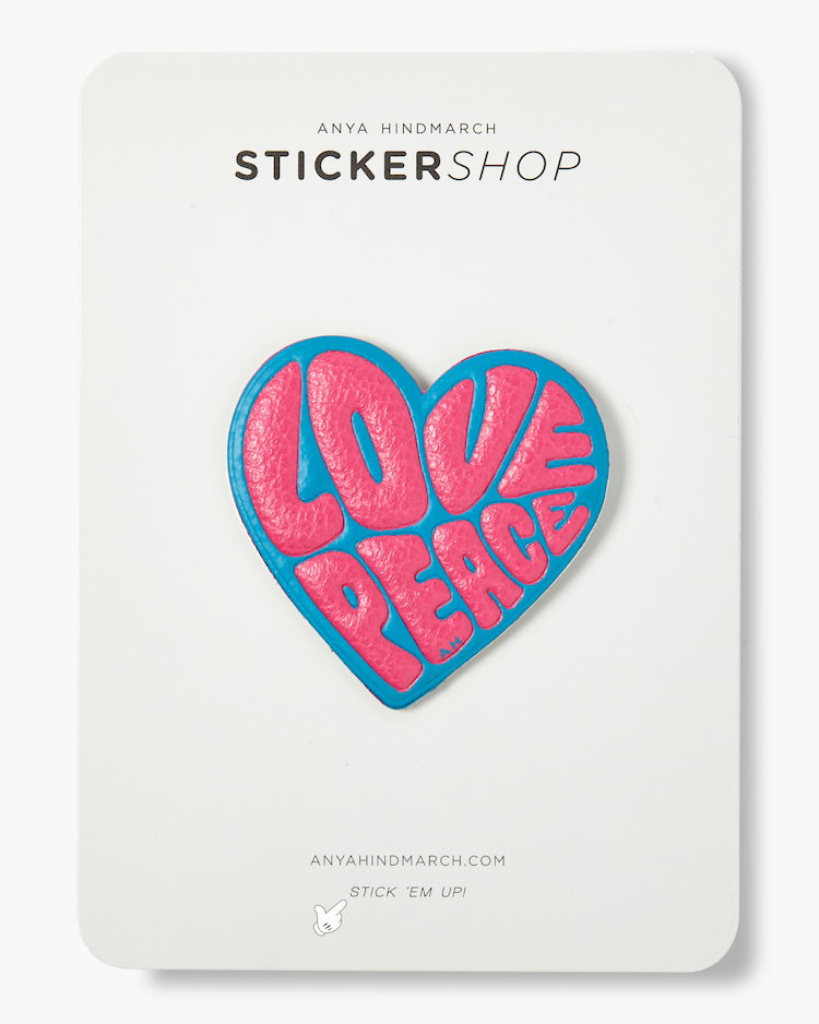 Love & Peace Sticker Anya Hindmarch