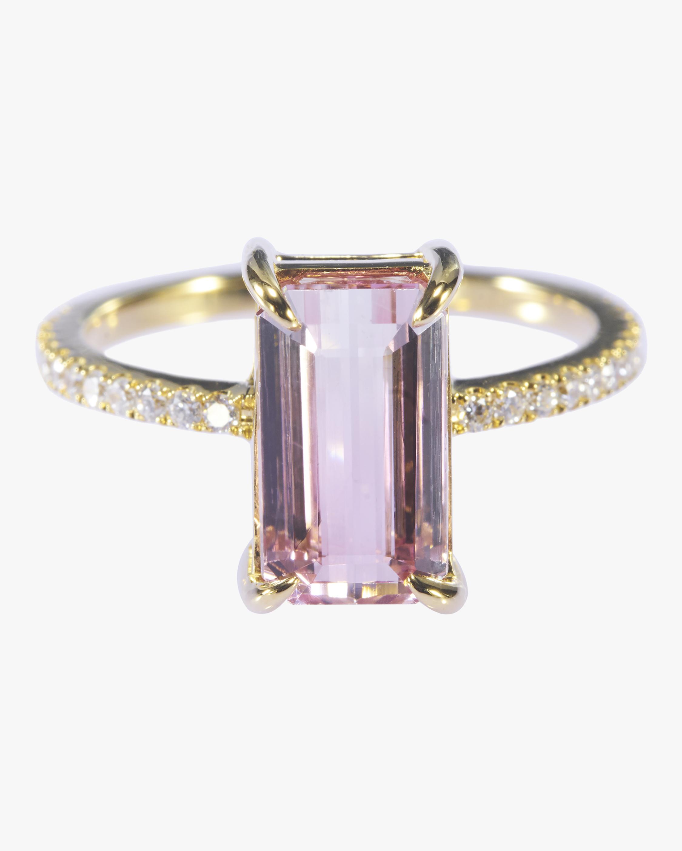 Tourmaline and White Diamond Ring