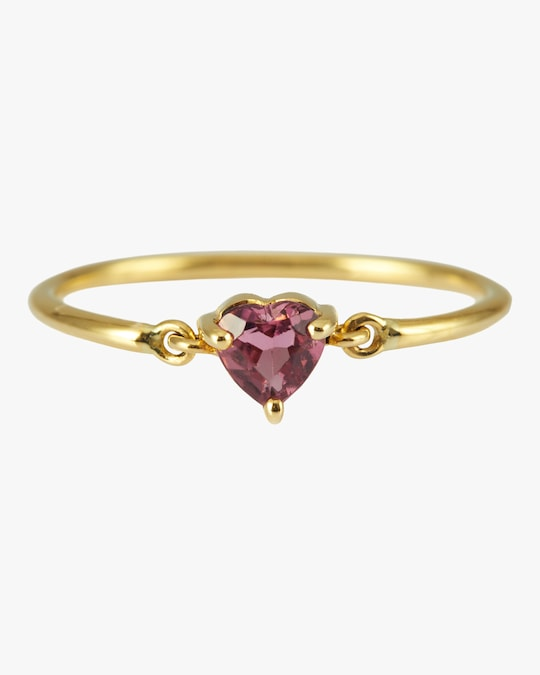 Yi Collection Ruby Heart Pinky Ring 0