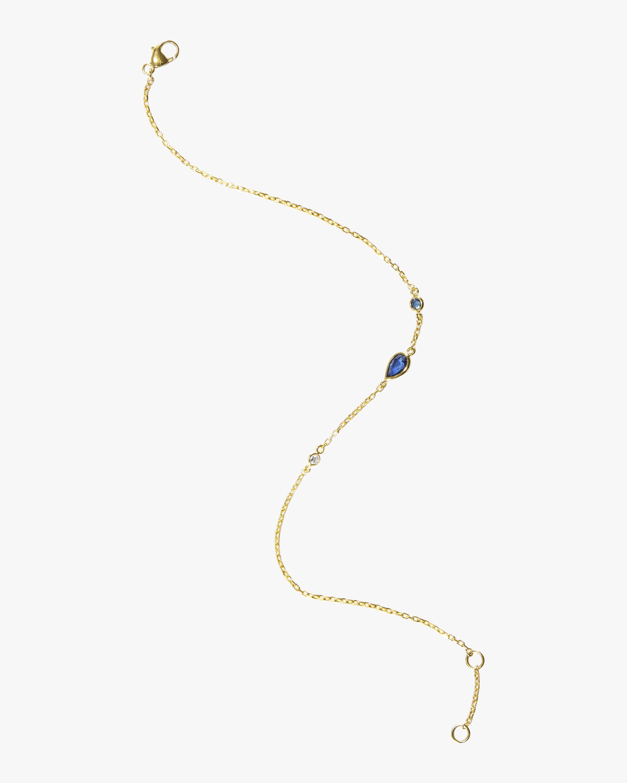 Sapphire Diamond and Topaz Bracelet