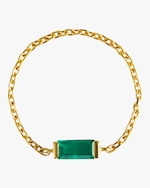 Yi Collection Emerald Baguette Chain Ring 0