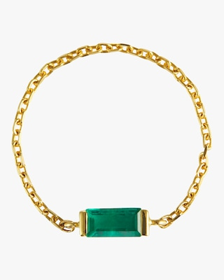 Yi Collection Emerald Baguette Chain Ring 1