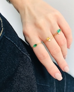 Yi Collection Emerald Small Marquisee Chain Ring 1