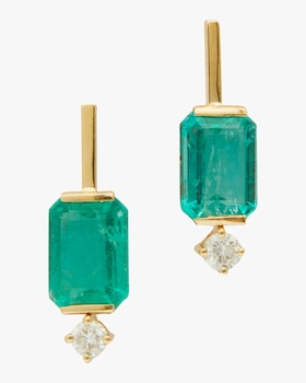 Emerald and Diamond Awakening Earrings