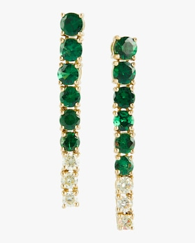 Tsavorite and Canary Diamond Earrings