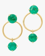 Yi Collection Emerald Double Happiness Earrings 0