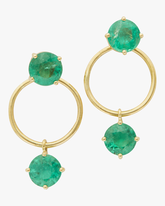 Emerald Double Happiness Earrings
