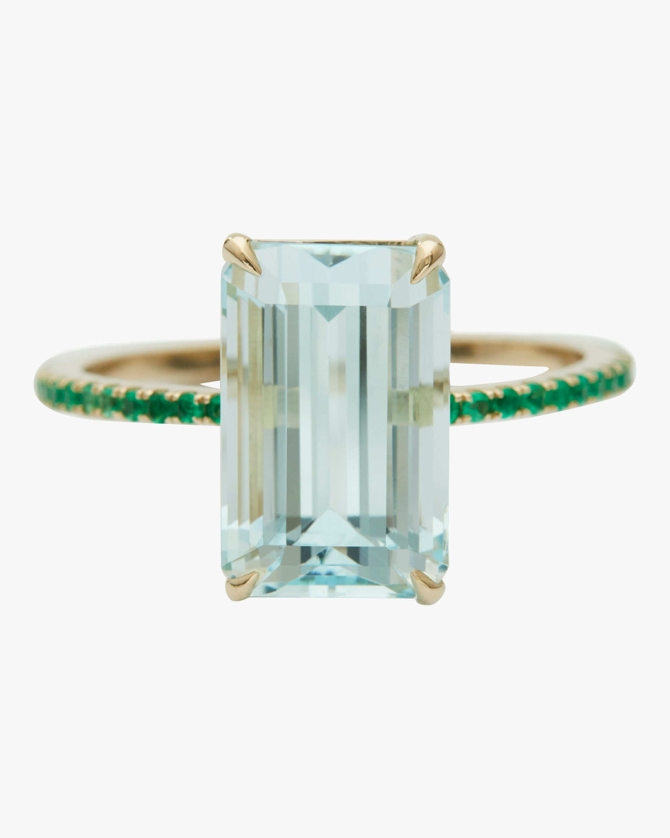 Yi Collection Aquamarine and Emerald Spring Ring 1