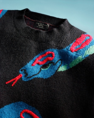 Snake Cashmere Sweater