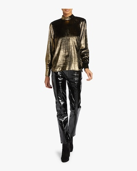 Metallic Tie Top