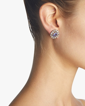 Diamond and Tanzanite Stud Earrings