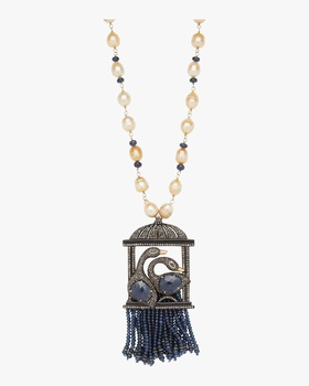Diamond Birdcage Pendant Necklace