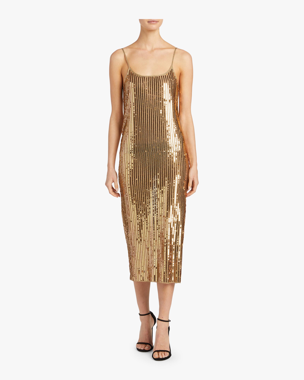 Gold Sequins Venus Dress