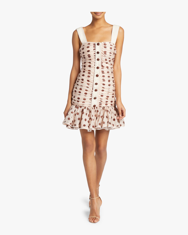Corsage Ruche Mini Dress