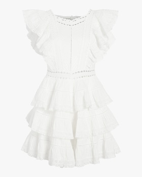 Juniper Pintuck Frill Dress