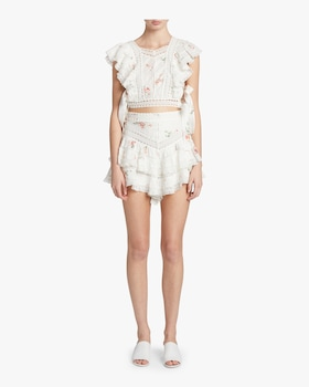 Heathers Pintuck Frill Shorts