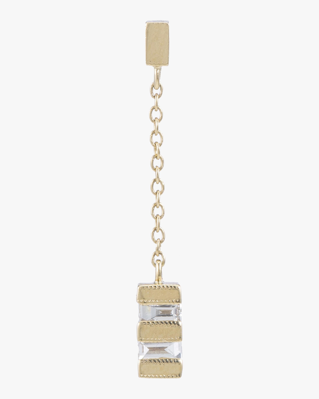 Baguette Stack Drop Single Earring