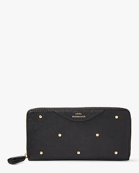 Hexagon Studs Large Zip Around Wallet