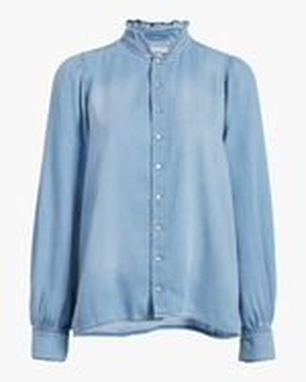ba&sh Axelle Chambray Shirt 0